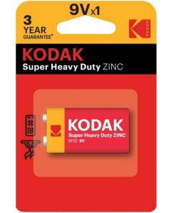 Baterie KODAK 6F22 6LR61 MX1604 E-BLOCK 9V Blister 1szt