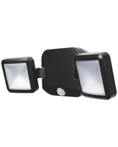 Podwójny Naświetlacz LED 10W 4000K IP54 Czarny Bateryjny LED SPOTLIGHT LEDVANCE Czujnik ruchu