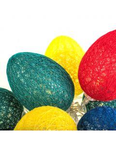 Girlanda świetlna Lampki LED na baterie Bawełniane jajka wielkanocne Kolorowe 10x LED MILAGRO EKD3936