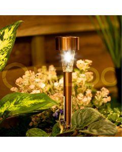 Lampa SZPIKULEC ogrodowa LED solarna wbijana złota 30cm