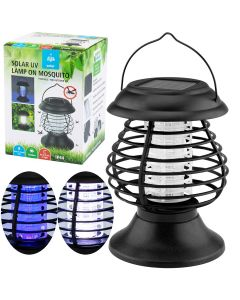 Lampa LATARENKA ogrodowa LED solarna UV odstraszająca owady przenośna