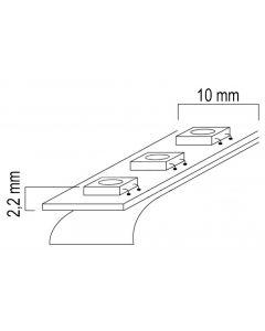 Taśma LED Pasek 12V 24W 300LED 2835 Zimna 8mm 5m - wyprzedaż