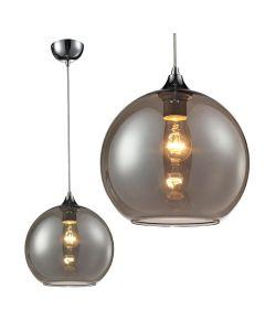Lampa wisząca Bolla C 1x E27 Metal i przyciemniane szkło Lampex Loft industrial