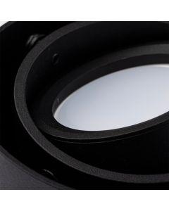 Oprawa sufitowa natynkowa SPOT SIROK GU10 okrągła ruchoma czarna BOWI