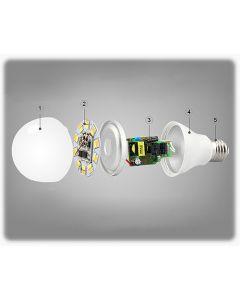 Żarówka LED E27 6W 450lm RGB+W Neutralna Wi-Fi Mi-Light - FUT014NW