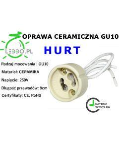 Ceramiczna oprawa gniazdo do żarówek LED kostka GU10