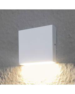Kinkiet Ogrodowy Elewacyjny LED Biały Góra lub Dół 3,5W 250lm IP44 KWADRAT CHICAGO Polux