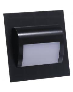 Oprawa schodowa DECORUS 9 LED 1,2W Czarna Ciepła ProVero
