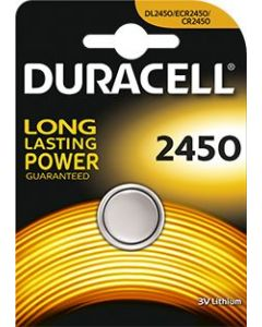 Bateria Duracell litowa 2450 DL2450 BATERIE CR2450 Kalkulator Konsola