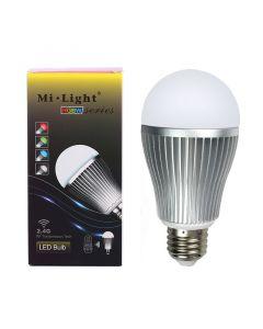 Żarówka LED E27 9W 850lm RGB+W Ciepłą WI-FI Mi-Light - FUT016WW
