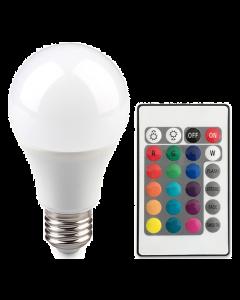 Żarówka LED SMART RGB E27 A60 6W = 40W  470lm POLUX 3000K + PILOT
