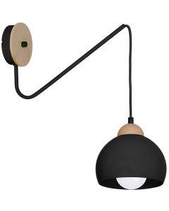 Kinkiet w stylu skandynawskim lampa ścienna MiLAGRO DAMA 1x E27 Drewno + metal