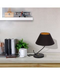 Lampa stołowa czarna MiLAGRO VICTORIA BLACK 1x E27
