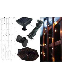 Lampa Ogrodowa SOLARNA LED pod parasol ogrodowy 0,14W 72x LED