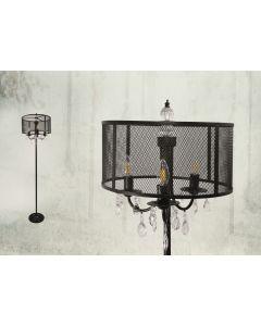 Lampa podłogowa stojąca Bresso 3xE14 POLUX czarna