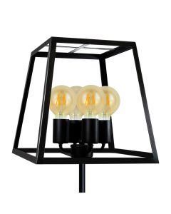 Lampa Stojąca Podłogowa IL MIO FINLAND 4xE27 Czarna - Polux