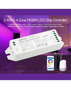 Kontroler Sterownik taśm LED RGB+W 12/24V 12A Mi-Light Wi-Fi FUT038M