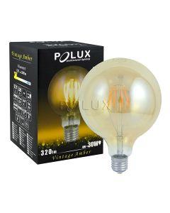 Żarówka FILAMENT LED G95 E27 4W = 18W 320lm POLUX Ciepła 2000K