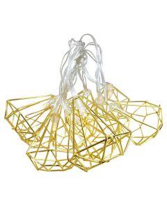 Girlanda świetlna LED na baterie Lampki dekoracyjne Diament metalowy 10x LED MILAGRO EKD4024