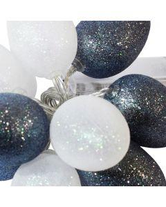 Girlanda świetlna Lampki LED na baterie Brokatowe jajka wielkanocne Biały szary 10x LED MILAGRO EKD3938