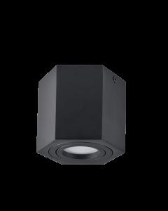 Oprawa natynkowa sufitowa Hexagon GU10 LED ruchoma SPOT czarna