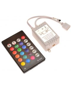 Sterownik RGB IR 24 PRZYCISKI 72W 2A 12V DC + PILOT
