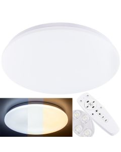 Plafon LED Sufitowy Łazienkowy Lampa sufitowa ORLANDO 40W IP44 CCT 3000K-6000K + PILOT