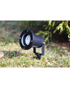 2x Lampa Ogrodowa LED Diego GU10 IP65 WODOODPORNA CZARNA + przewód 1m