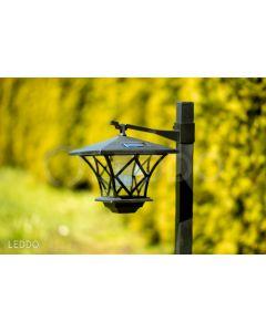 LATARNIA Lampa ogrodowa LED solarna 155cm WYSOKA ARTIS 6000K Polux