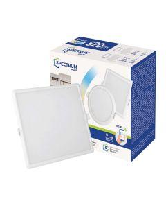 Panel LED Kwadratowy Podtynkowy wpuszczany 6W CCT ALGINE SPECTRUM Smart WiFi Ściemnialny
