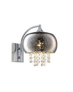 Kinkiet w stylu glamour z kryształkami MiLAGRO STARLIGHT 3x E14 galaktyka crystal