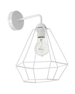 Kinkiet w stylu industrialnym lampa ścienna biała druciana MiLAGRO Alma 1x E27