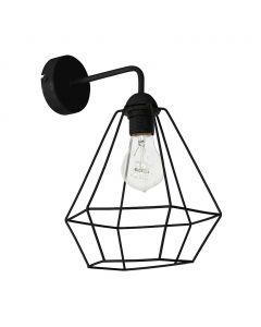 Kinkiet w stylu industrialnym lampa ścienna czarna druciana MiLAGRO Alma 1x E27