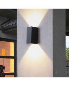 Kinkiet ogrodowy zewnętrzny na LED 2x GU10 BOSTON POLUX ALUMINIUM Biały