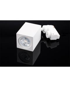 Reflektor Szynowy GU10 BRICK Biały do Szynoprzewodów Jednofazowych