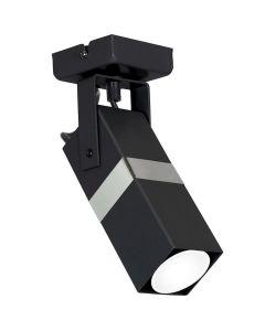 Lampa sufitowa ścienna Kinkiet 1x GU10 Spot Loft Czarny + Srebrny VIDAR Milagro
