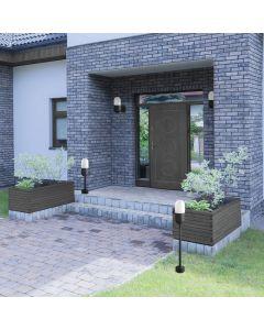 Słupek ogrodowy HORTEN 1x E27 60 cm Polux Czarny 314161