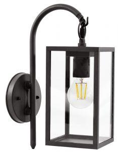 Kinkiet Ogrodowy Dół Lampa Elewacyjna Malmo E27 IP44 Grafit - Polux