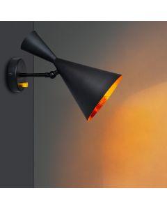 Kinkiet Lampa Ścienna Reflektor do LED MODERN W306-C Czarno-Złoty - Polux