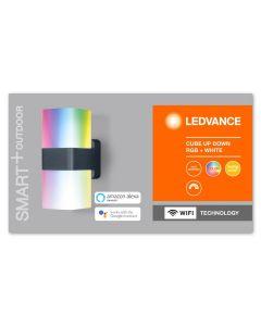 Kinkiet LED INTELIGENTNY 13,5W RGB+W Ciemny szary SMART+ WiFi CUBE LEDVANCE