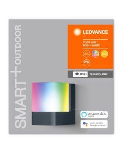 Kinkiet LED INTELIGENTNY 9,5W RGB+W Ciemny szary SMART+ WiFi CUBE LEDVANCE