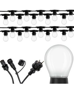 Girlanda Ozdobna Zewnętrzna Łańcuch 10m 20xE27 + Żarówki LED 2,5W OSRAM