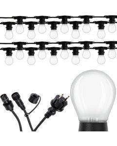 Girlanda Ozdobna Zewnętrzna Łańcuch 20m 20xE27 + Żarówki LED 2,5W OSRAM