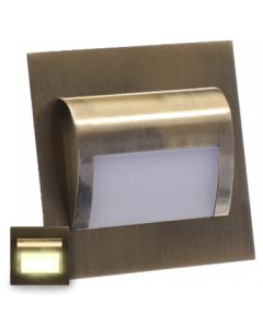 Oprawa Schodowa LED 1,2W Mosiądz Ciepła DECORUS 9 ProVero