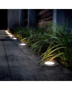 Zestaw OPRAWA LED Najazdowa Lampa DOGRUNTOWA + GU10 6W 3000K 580lm Lumiled