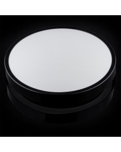 Plafon LED Lampa Sufitowa Natynkowa Łazienkowa 18W 4000K IP44 z Czujnikiem Ruchu ZOE LX Czarna 30cm