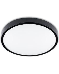 Plafon LED Lampa Sufitowa Natynkowa Łazienkowa 24W 4000K IP44 z Czujnikiem Ruchu ZOE LX Czarna 35cm