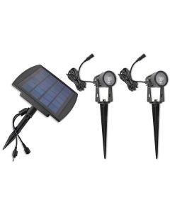 2x Lampa ogrodowa wbijana LED Solar 1W 4000K IP65 SPIKE