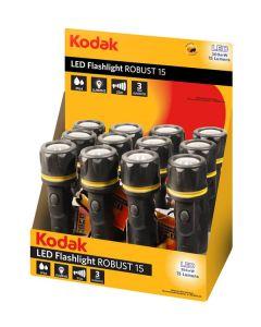 LATARKA RĘCZNA, zasilana bateryjnie 15lm IP64 czarna KODAK