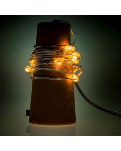 Lampki LED na baterie Zatyczka Korek do wina z lampkami LED MILAGRO EKD3966